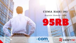 promo domain .com 95.000