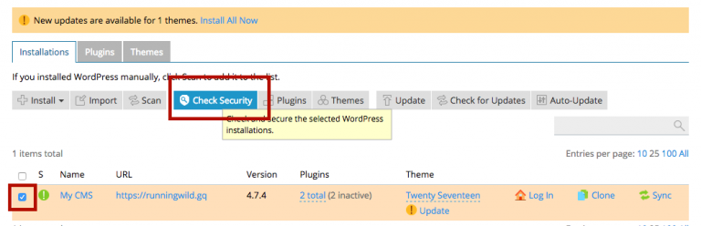 Fitur Check Security pada WordPress Toolkit image 2