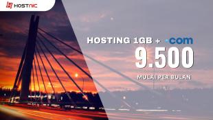 Promo Hosting 1GB + Domain .COM 9rb/bln