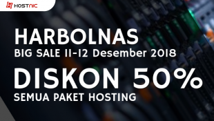 Harbolnas: 11-12 Desember Diskon 50% Semua Paket Hosting