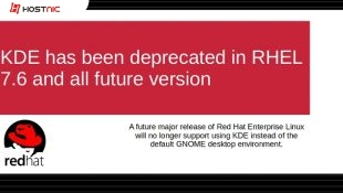 KDE sudah deprecated di RHEL 7.6